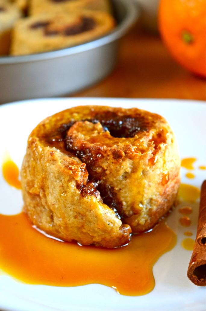 Whole Grain Cinnamon Rolls with Orange Honey Glaze (Gluten-Free) -- Nourish Wild